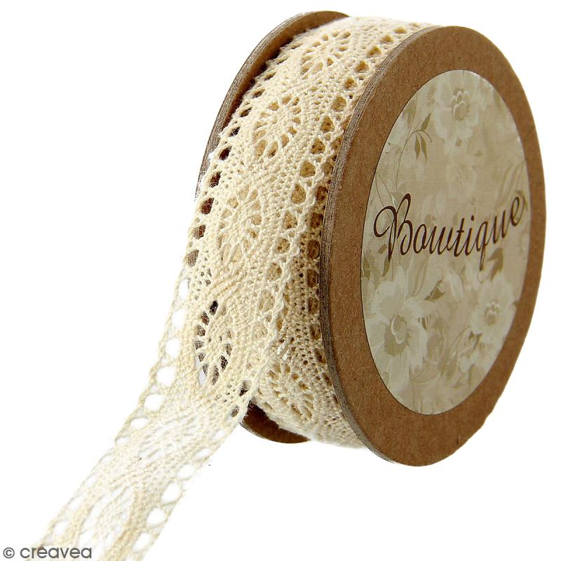 Dentelle beige Celebrate - 20 mm x 5 m - Photo n°1