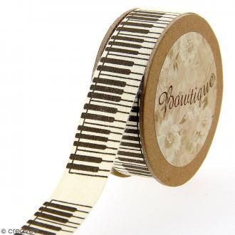Ruban coton Celebrate - Piano - 20 mm x 5 m