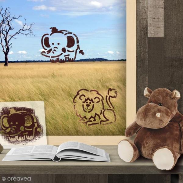 Pochoir enfant Animaux de la savane - 6 pcs - Photo n°2