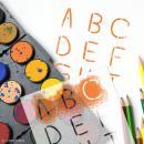 Pochoir enfant Alphabet Light - 6 pcs - Photo n°2