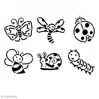 Pochoir enfant Insectes - Set de 6