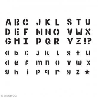 Pochoir enfant Alphabet Bold - 6 pcs