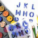 Pochoir enfant Alphabet Bold - 6 pcs - Photo n°2
