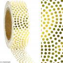 Washi Tape effet foil - Pois dorés sur fond blanc - 1,5 cm x 10 m - Photo n°2