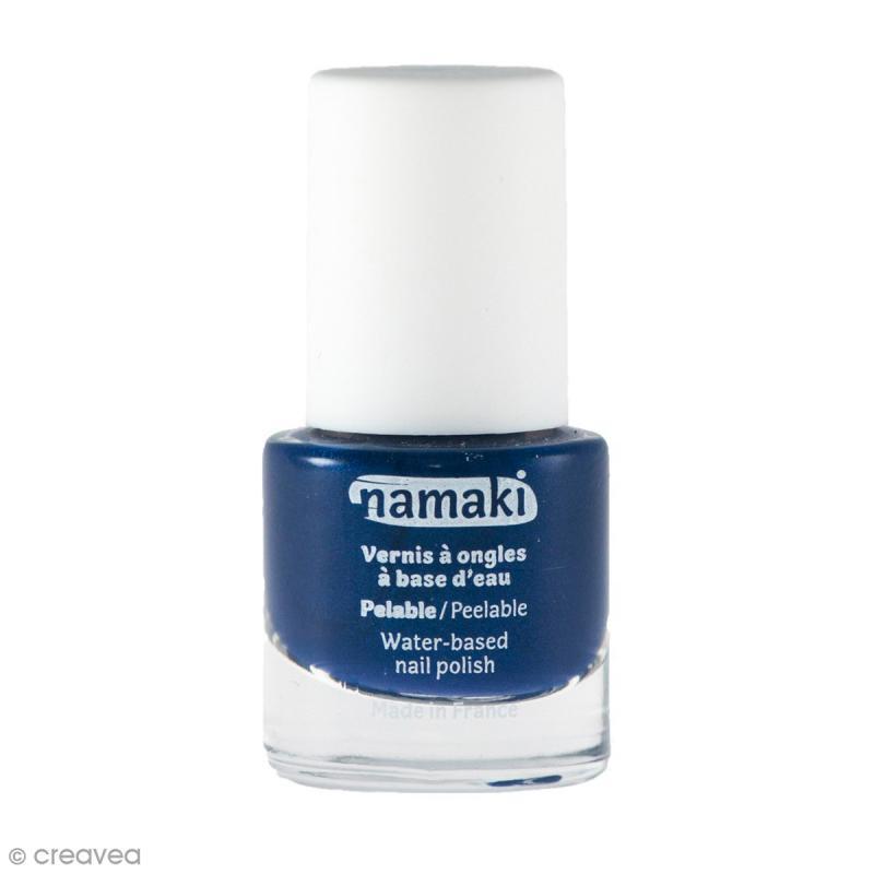 vernis ongles pour enfants bleu nuit n 09 7 5 ml accessoires nail art creavea. Black Bedroom Furniture Sets. Home Design Ideas