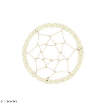 Pendentif Attrape rêves en ficelle - Blanc ivoire - 40 mm
