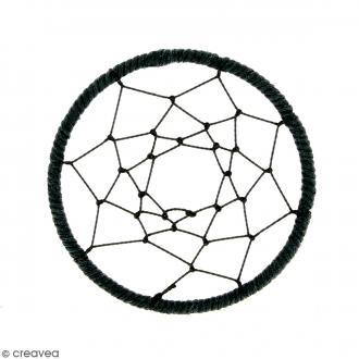 Pendentif Attrape rêves en ficelle - Noir - 60 mm