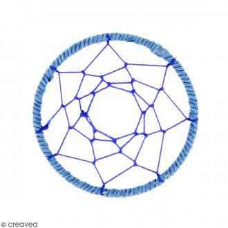 Pendentif Attrape rêves en ficelle - Bleu - 60 mm
