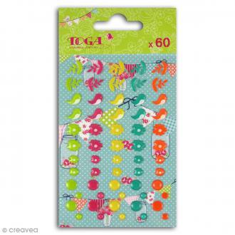 Stickers epoxy Toga - Dimanche à la campagne - 60 pcs