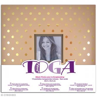 Album photos - Kraft pois or - 30 x 30 cm