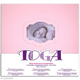 Album photos - Naissance rose - 30 x 30 cm