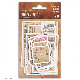 Die cut Toga - Le temps des secrets - 41 pcs