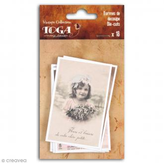 Die cut Toga - Cartes postales vintages - 18 pcs
