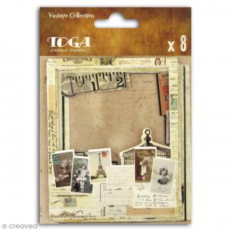 Cadre polaroid - Le temps des secrets - 8,8 x 10,7 cm - 8 pcs