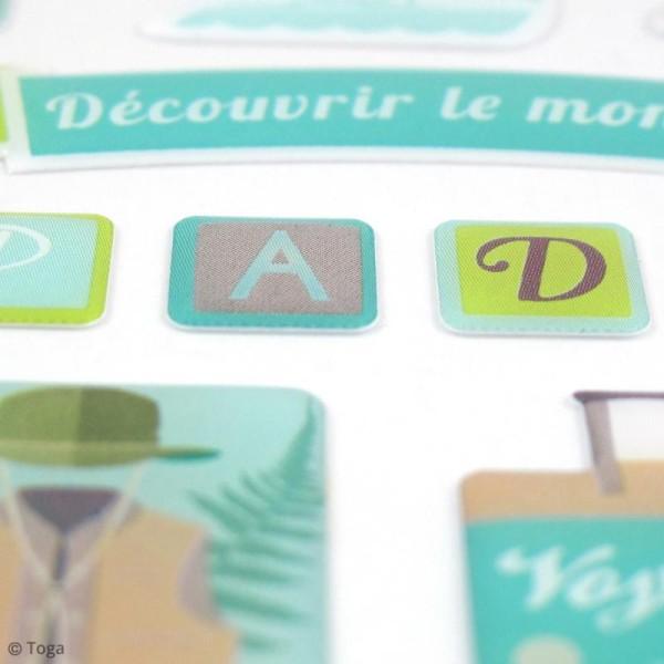 Stickers 3D epoxy - Escapade - 39 pcs - Photo n°3
