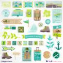 Stickers 3D epoxy - Escapade - 39 pcs - Photo n°2