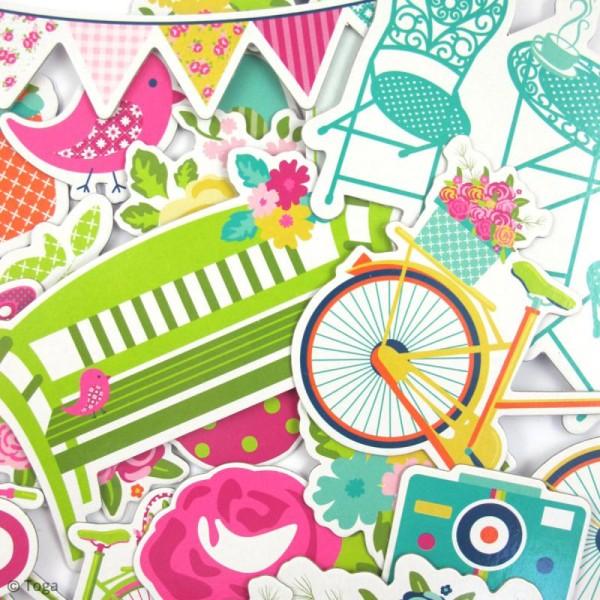 Chipboard Dimanche à la campagne - Carton - 20 pcs - Photo n°3