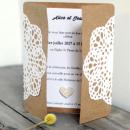 Confettis en bois - Coeurs - Rose et gris - 2 cm - 25 pcs - Photo n°2