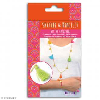 Kit de création Sautoir et Bracelet Toga - Bollywood