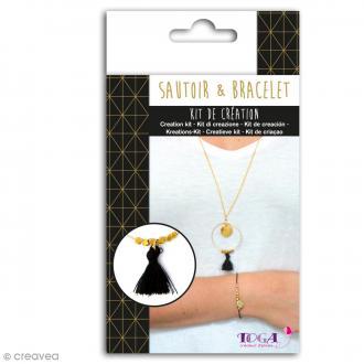 Kit de création Sautoir et Bracelet Toga - Doré chic