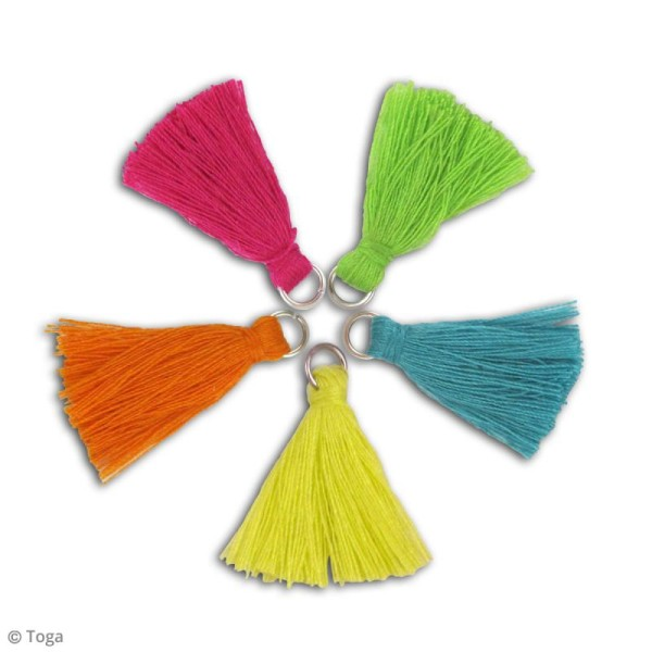 Set de pompons tassels - Bollywood - 1,5 cm - 5 pcs - Photo n°2