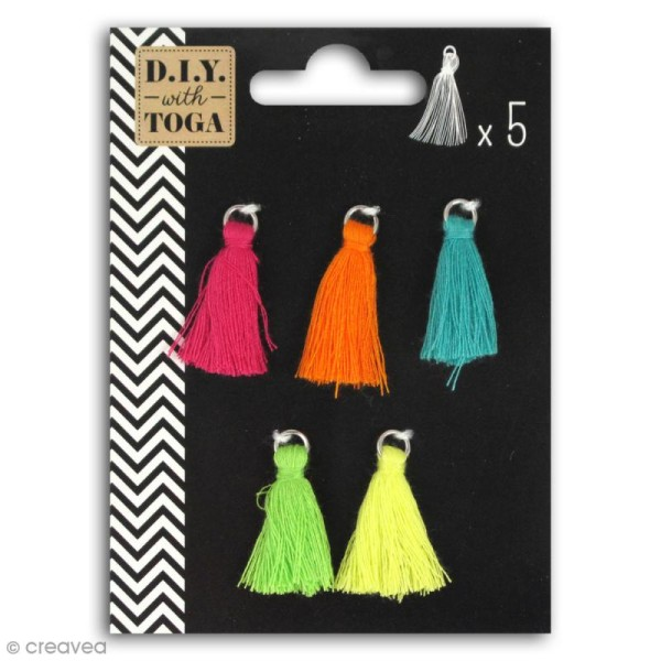 Set de pompons tassels - Bollywood - 1,5 cm - 5 pcs - Photo n°1
