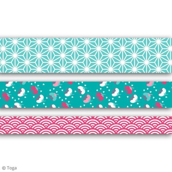 Masking tape Toga - Jardin japonais - 3 rouleaux - Photo n°2