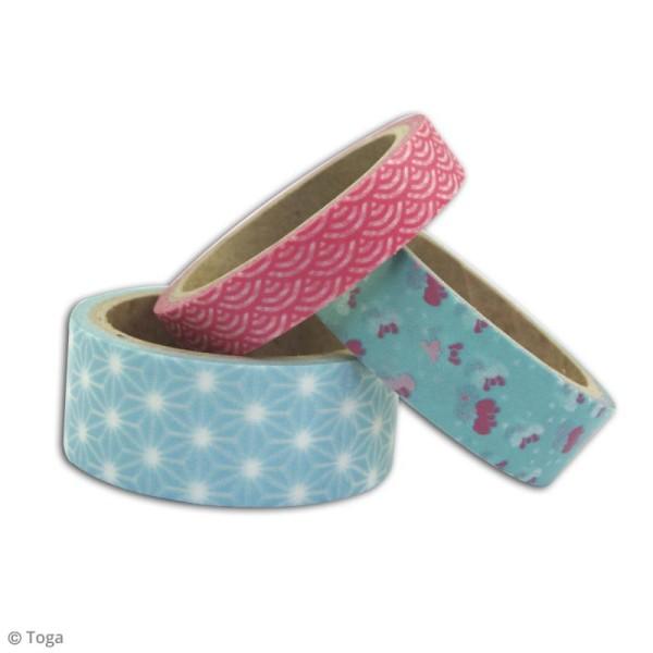 Masking tape Toga - Jardin japonais - 3 rouleaux - Photo n°3