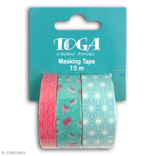 Masking tape Toga - Jardin japonais - 3 rouleaux - Photo n°1
