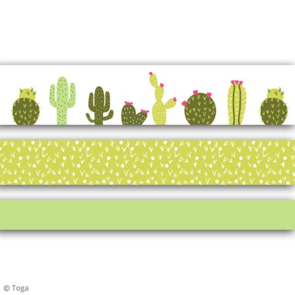 Masking tape Toga - Cactus - 3 rouleaux - Photo n°2