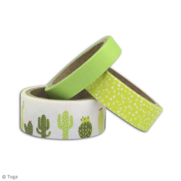 Masking tape Toga - Cactus - 3 rouleaux - Photo n°3