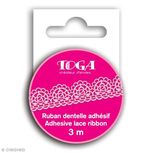 Masking tape Toga - Dentelle rose - 3 m - Photo n°1