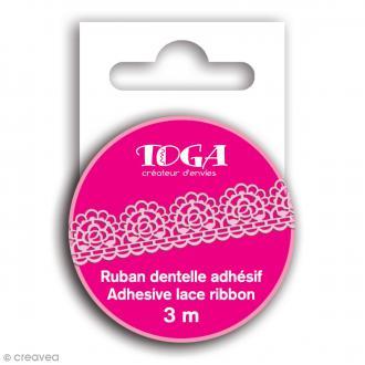 Masking tape Toga - Dentelle rose - 3 m