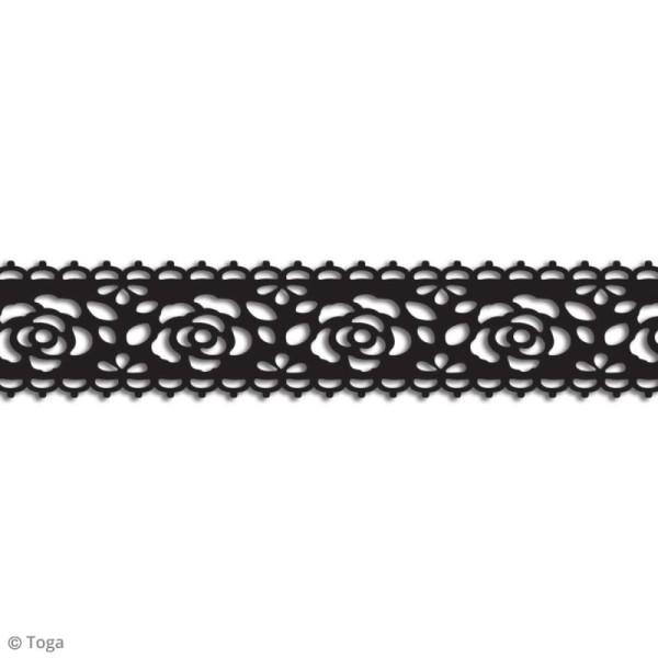 Masking tape Toga - Dentelle fleur noire - 3 m - Photo n°2
