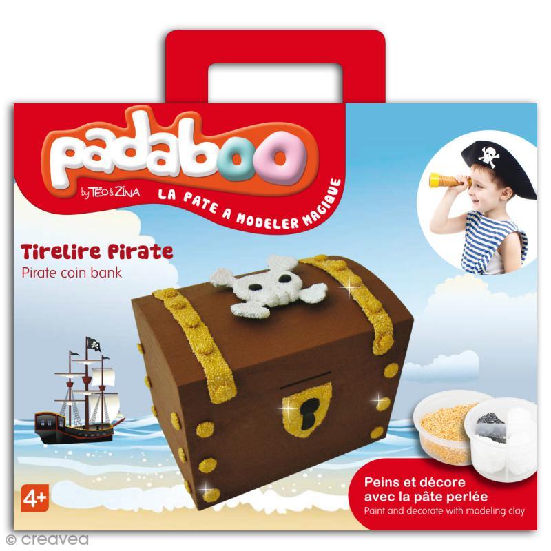 Kit de pâte à modeler Padaboo - Tirelire Pirate - Photo n°1