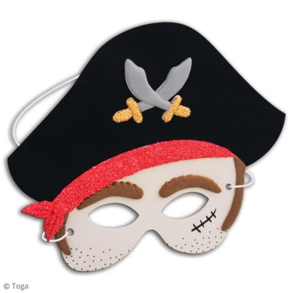 Kit de pâte à modeler Padaboo - 4 masques pirate - Photo n°2