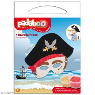 Kit de pâte à modeler Padaboo - 4 masques pirate