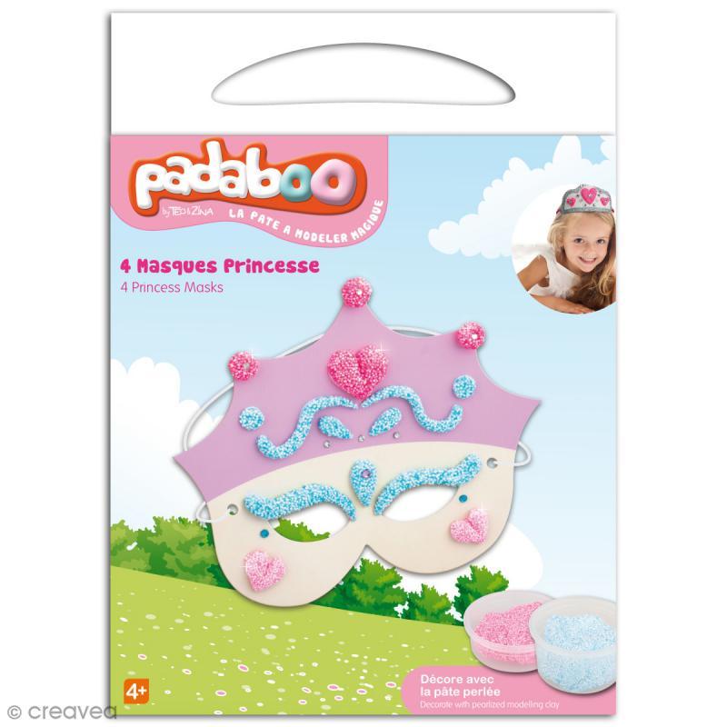 Kit de pâte à modeler Padaboo - 4 masques princesse - Photo n°1