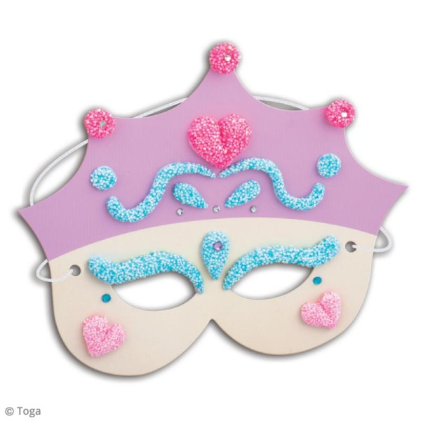 Kit de pâte à modeler Padaboo - 4 masques princesse - Photo n°2