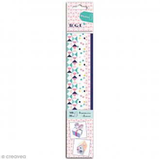 Bandes de papier quilling - Géométriques - 4 tailles -100 pcs