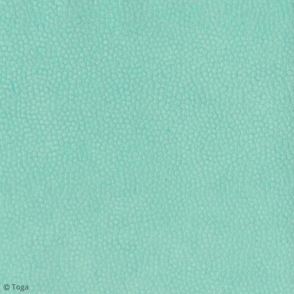 Papier recyclé Or de Bombay - Effet cuir - Vert d'eau - 38 x 56 cm - Photo n°2