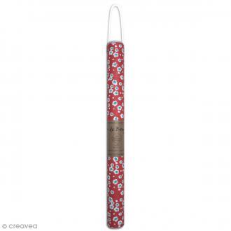 Papier recyclé Or de Bombay - Fleurs Japon corail - 38 x 56 cm