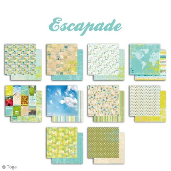 Papier scrapbooking Toga - Escapade - Set de 10 feuilles de 30 x 30 cm - Photo n°2