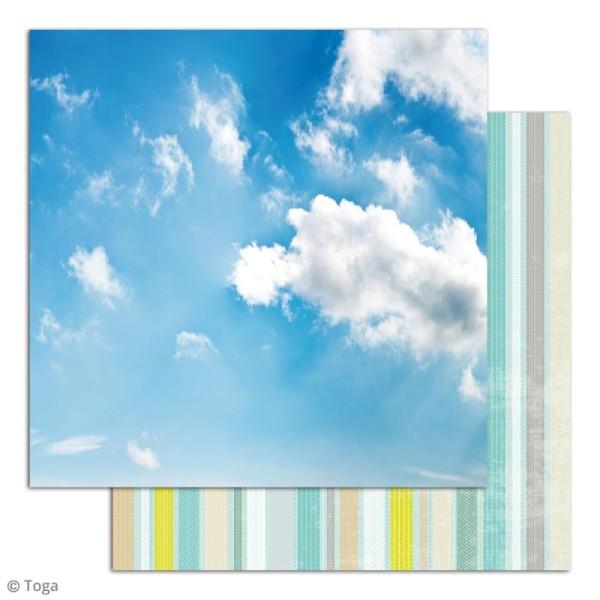 Papier scrapbooking Toga - Escapade - Set de 10 feuilles de 30 x 30 cm - Photo n°4