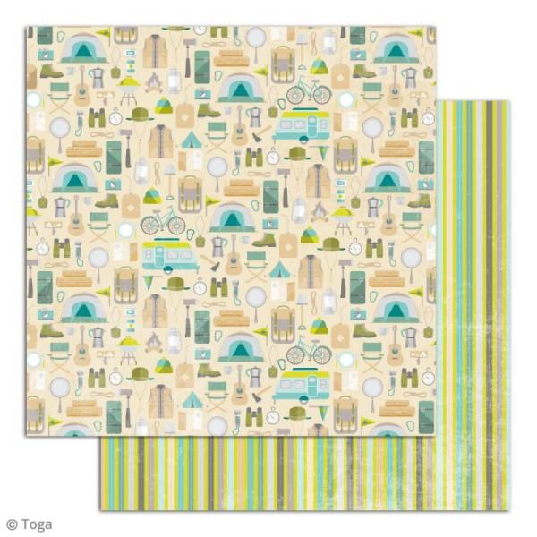 Papier scrapbooking Toga - Escapade - Set de 10 feuilles de 30 x 30 cm - Photo n°5