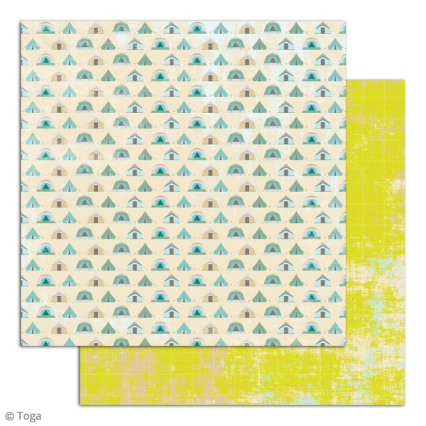 Papier scrapbooking Toga - Escapade - Set de 10 feuilles de 30 x 30 cm - Photo n°6