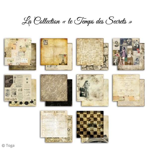 Papier scrapbooking Toga - Le temps des secrets - Set de 10 feuilles de 30,5 x 30,5 cm - Photo n°2