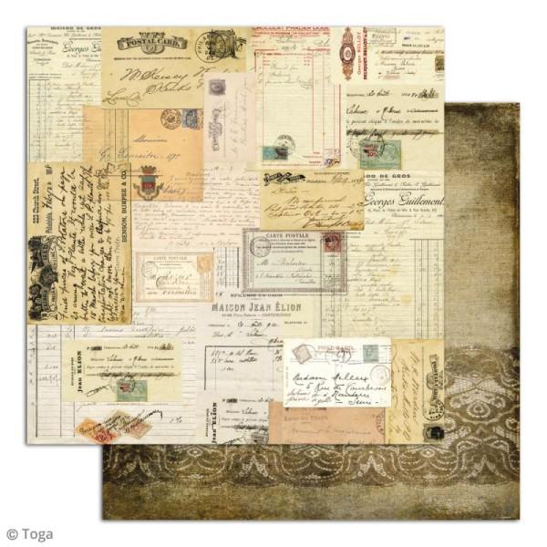 Papier scrapbooking Toga - Le temps des secrets - Set de 10 feuilles de 30,5 x 30,5 cm - Photo n°3