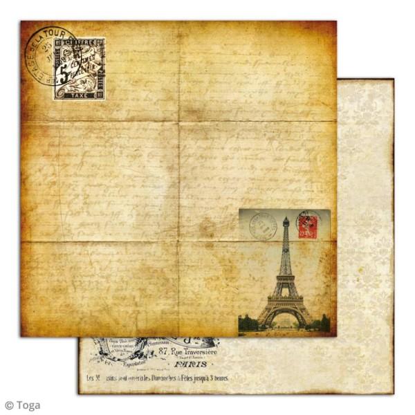 Papier scrapbooking Toga - Le temps des secrets - Set de 10 feuilles de 30,5 x 30,5 cm - Photo n°4