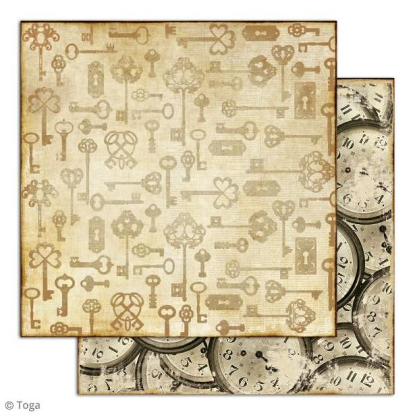 Papier scrapbooking Toga - Le temps des secrets - Set de 10 feuilles de 30,5 x 30,5 cm - Photo n°5